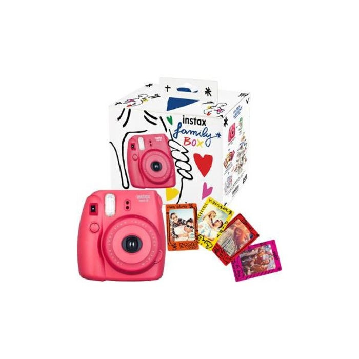 Cámara de fotos KIT FUJIFILM INSTAX MINI 8 FAMILY BOX Roja + imanes.